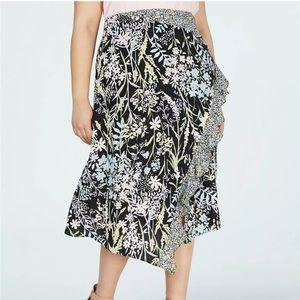 Calvin Klein Flowing Floral Skirt